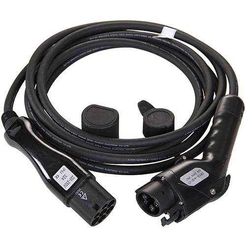 1-EV Type2 -> Type1 (32A) Câble de recharge véhicule électrique