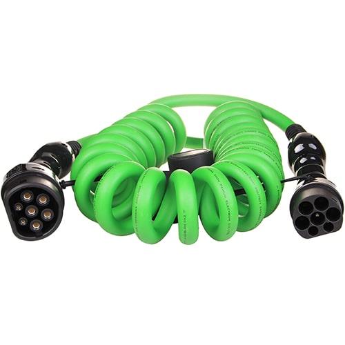 1-EV Type2 -> Type2 spiral (3x32A) Câble de recharge véhicule électrique